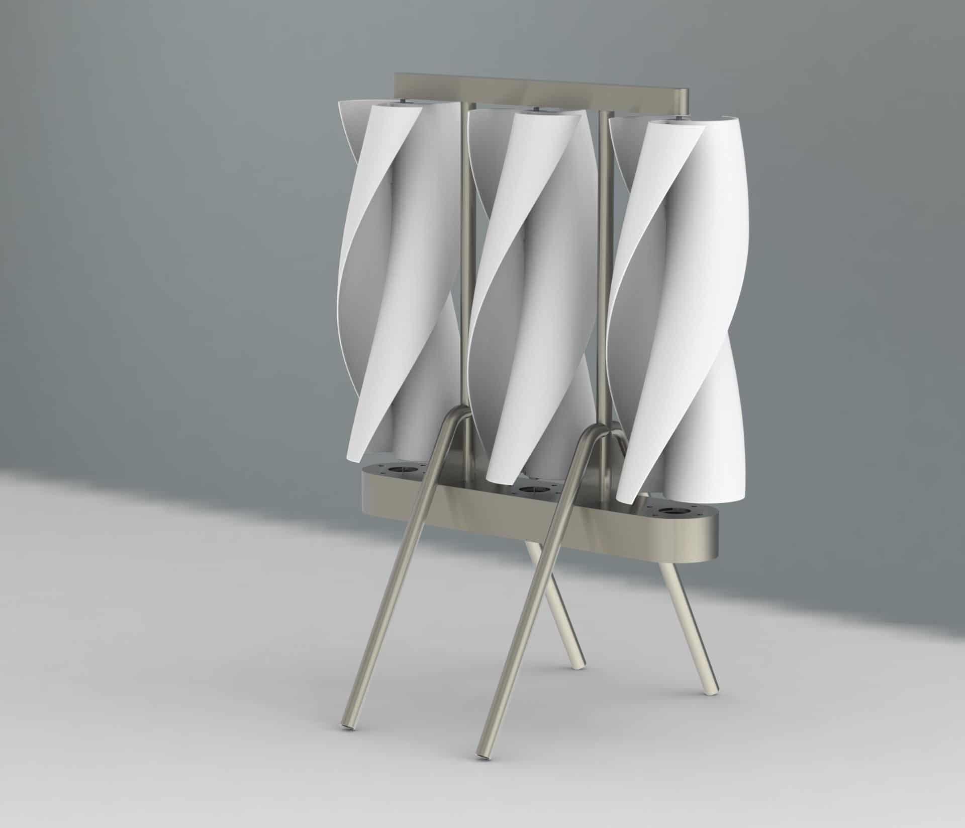 Rendu 3D des éoliennes